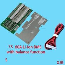 7 S 60A версия S lipo литий-полимерный BMS/PCM/PCB батарея защиты доска для упак. 18650 литий-ионный батарея ячейки w/баланс