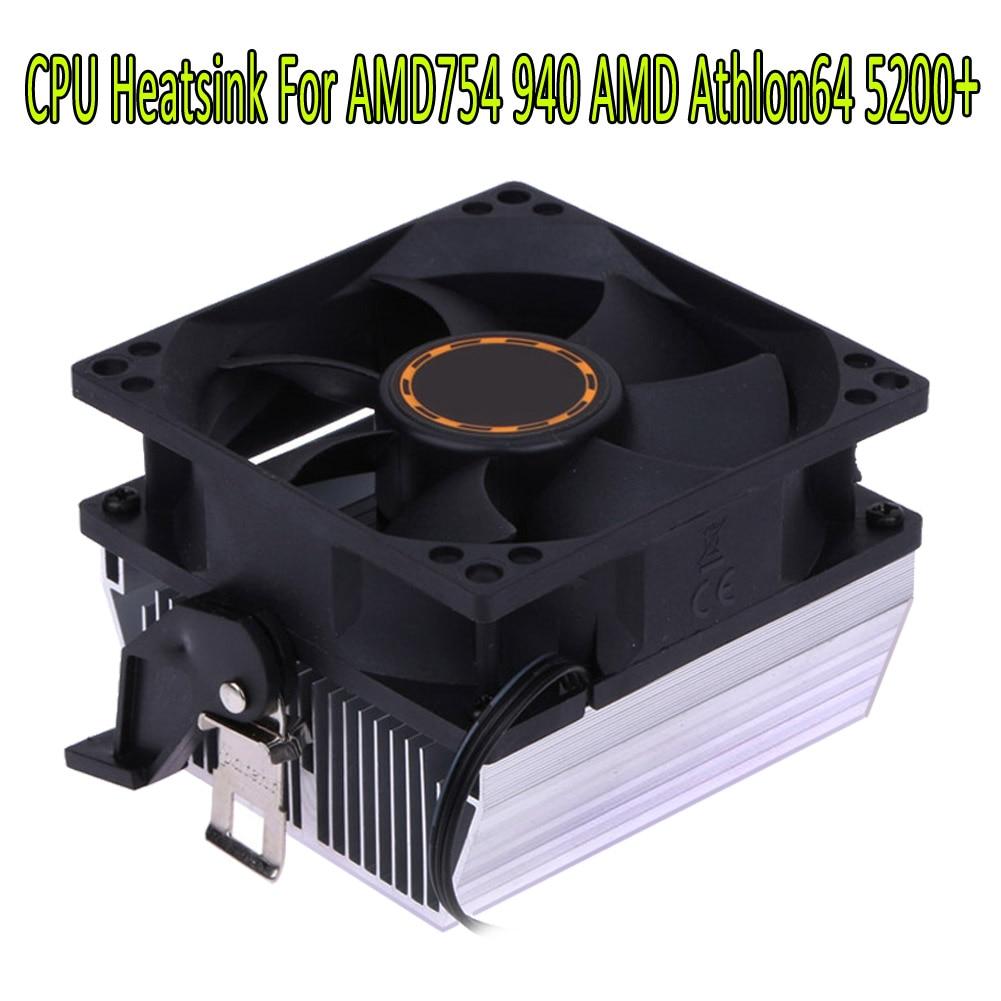 Computer CPU Cooler Heatsink Radiator Processor Cooling Fan 30mm 7 Blades 8cm Ventilador for AMD754 939 940 AMD Athlon64 5200+ computer cooler radiator with heatsink heatpipe cooling fan for hd6970 hd6950 grahics card vga cooler