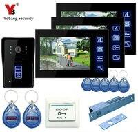 Yobang безопасности Бесплатная доставка 7 дверной домофон телефон видео дверной звонок Системы дома вход в квартиру комплект разблокировки д