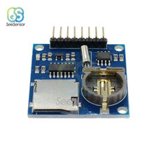 Mini DS1307 V1.0 Perekam Data Real Time Clock Logging Perekam Data Logger Papan Ekspansi Perisai Modul MICRO SD Card Slot(China)