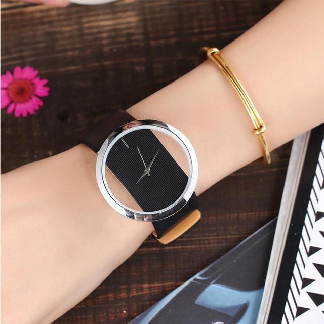 Fashion Leather Women Girl Watch Small Fresh Wrist Watch Fashion Casual Simple Q