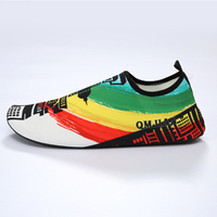CANDOMOM Printed Wading Shoes Sandy Beach Skin Gym Shoes Male and Female Wear resisting Non slip Wading Shoes