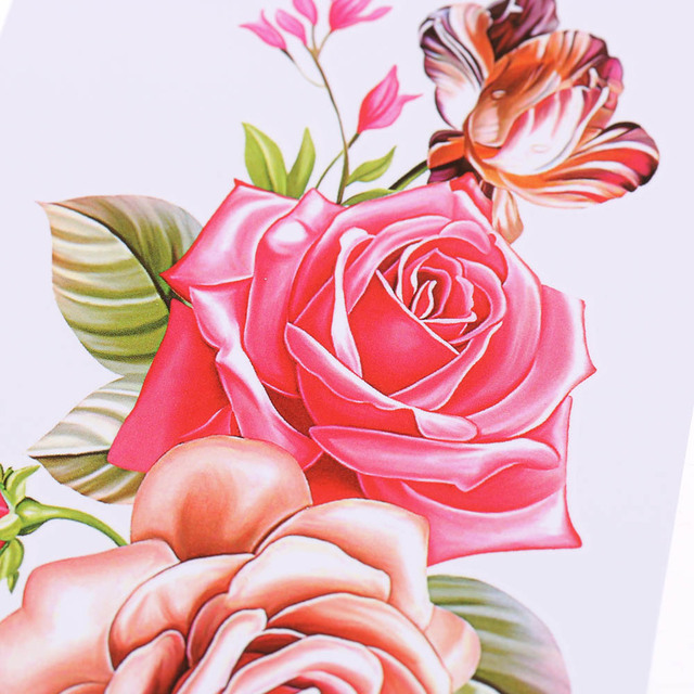 7f11fe254 1PC Removable Women 3D Flowers Waterproof Temporary Tattoo