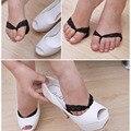Mais novos Senhoras Invisíveis Antepé Sapatos de Salto Alto/Antiderrapante Metade Quintal Almofadas cor preta de Venda Quente