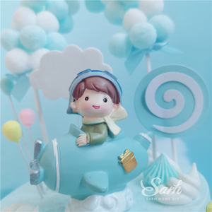 Image 4 - Boy Girl Pilot Decorations Cloud Balls Cake Toppers for Valentines Day Childrens Day Party Birthday Supplies Lovely Gifts