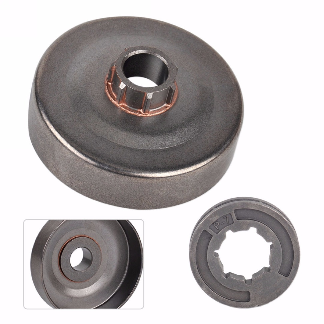 Mayitr Clutch Drum P-7 Rim Sprocket Replacment Fit For 017 018 021 023 MS180 MS251 Chainsaw Metal chainsaw clutch drum rim sprocket 3 8 7t needle bearing kit for husqvarna 61 66 162 266 268 272 jonsered 625 630