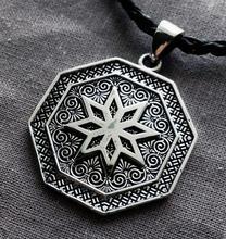 10pc wholesale Porcelain Unicorn Talisman and Folk Slavic symbol Warding Alatyr Alatir Protection Amulet Woman Man Necklace Gift