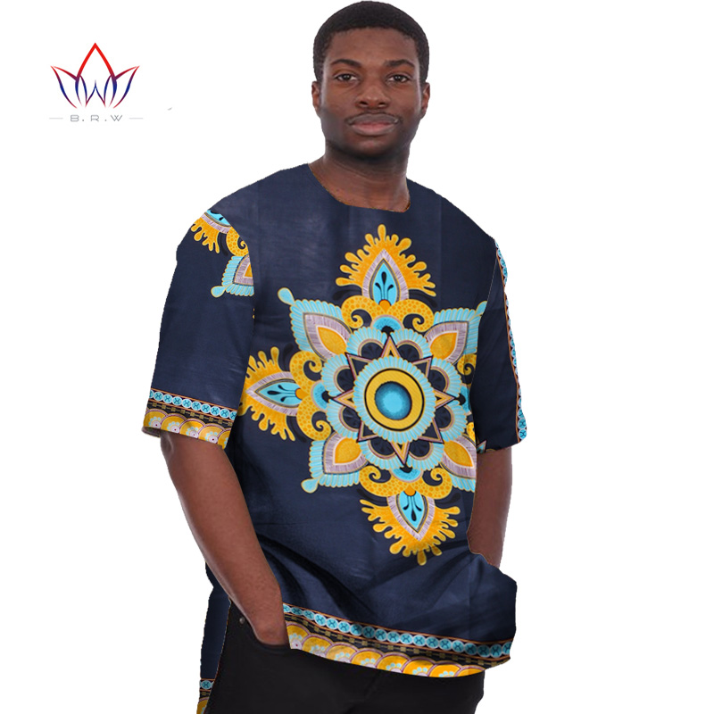 African Print Clothing Dashiki for Men t Shirts Mens Half Sleeve Mens  Shirts Brand Clothing Plus 227cea0ed07a