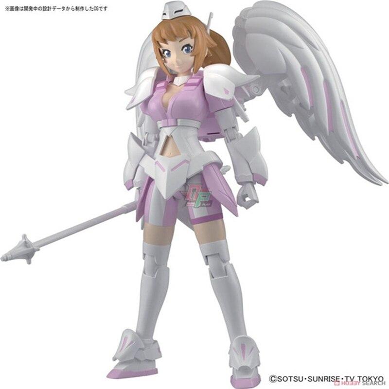Original Bandai Assembled Model Hgbf 054 Gundam Warriors Try Super Wenna Pink Angels Nurse Pvc Action Figure Kid Dolls Toys Toys & Hobbies