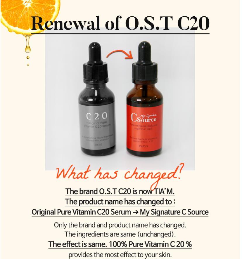 TIAM Tanda Tangan Saya C Sumber Vitamin C20 Serum Asam Ascorbic Serum - Perawatan kulit - Foto 2