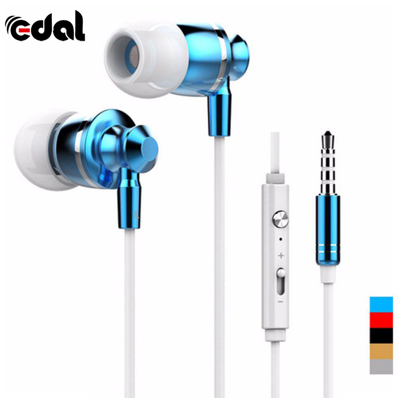 EDAL Quality Metal Stereo Bass Earphone Headphone Headset With Mic Volume +/- for number iphone Samsung Xiaomi Sony gift M-300 super bass headphone stereo headset wired with microphone and volume control lightweight foldable earphone for iphone xiaomi mp3