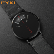 hot deal buy eyki new unique innovate creative mens watches quartz fashion genuine leather watch men waterproof gifts sport watches for men