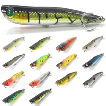wLure 10cm 17g Long Casting Topwater Popper Walking Lure 2 #4 Treble Hooks Floating Bait 3D Hard Eyes Fishing Lure W622