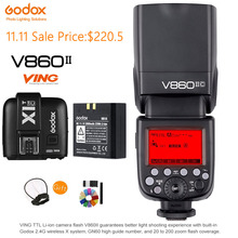 Godox V860II-C TTL Speedlite 1/8000S 2.4G Wireless Li-ion Battery Flash light +X1T-C Flash Trigger Transmitter For Canon Camera цены