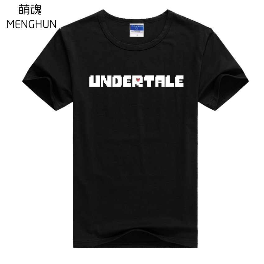 New game fans gift t shirt undertale t shirts game concept summer lycra cotton cool t shirts gamer daily wear comfortable ac729