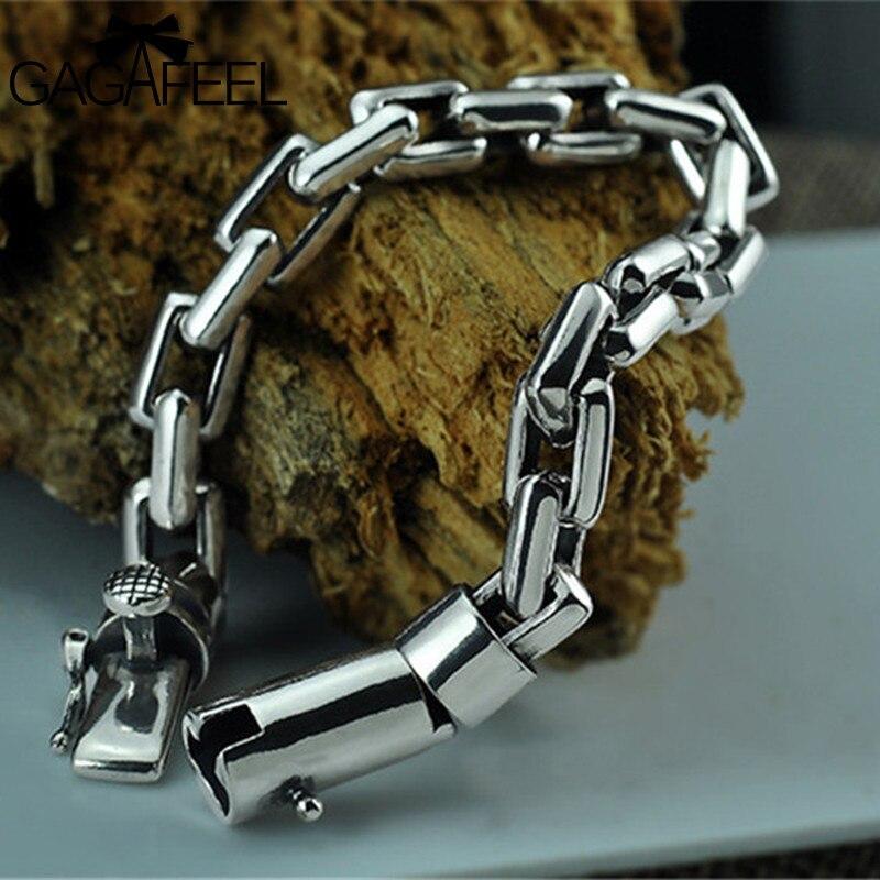 Дутый браслет из серебра