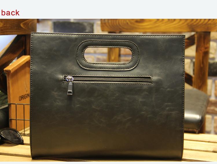 Business Casual Men Leather Designer Handbag High Quality Male Wallet Famous Brand Men's Large Capacity Clutch Bag Brown black 76