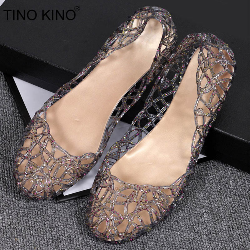 Womens Bling Sandals Hollow Out Summer Flats Jelly Shoes New Casual Female Mesh Fashion Slip On Comfortable Ladies ShoesWomens Bling Sandals Hollow Out Summer Flats Jelly Shoes New Casual Female Mesh Fashion Slip On Comfortable Ladies Shoes