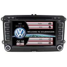 2DIN Car DVD for Volkswagen VW golf 4 golf 5 6 touran passat B6 sharan jetta caddy transporter t5 tiguan gps card Steering Wheel