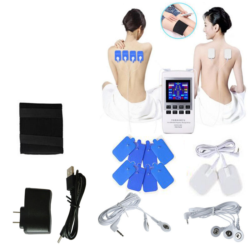 Multifunction HD Digital Intermediate Frequency Therapy Instrument Body Healthy Care Pulse Slimming Muscle Relax Massager 2017 hot sale mini electric massager digital pulse therapy muscle full body massager silver
