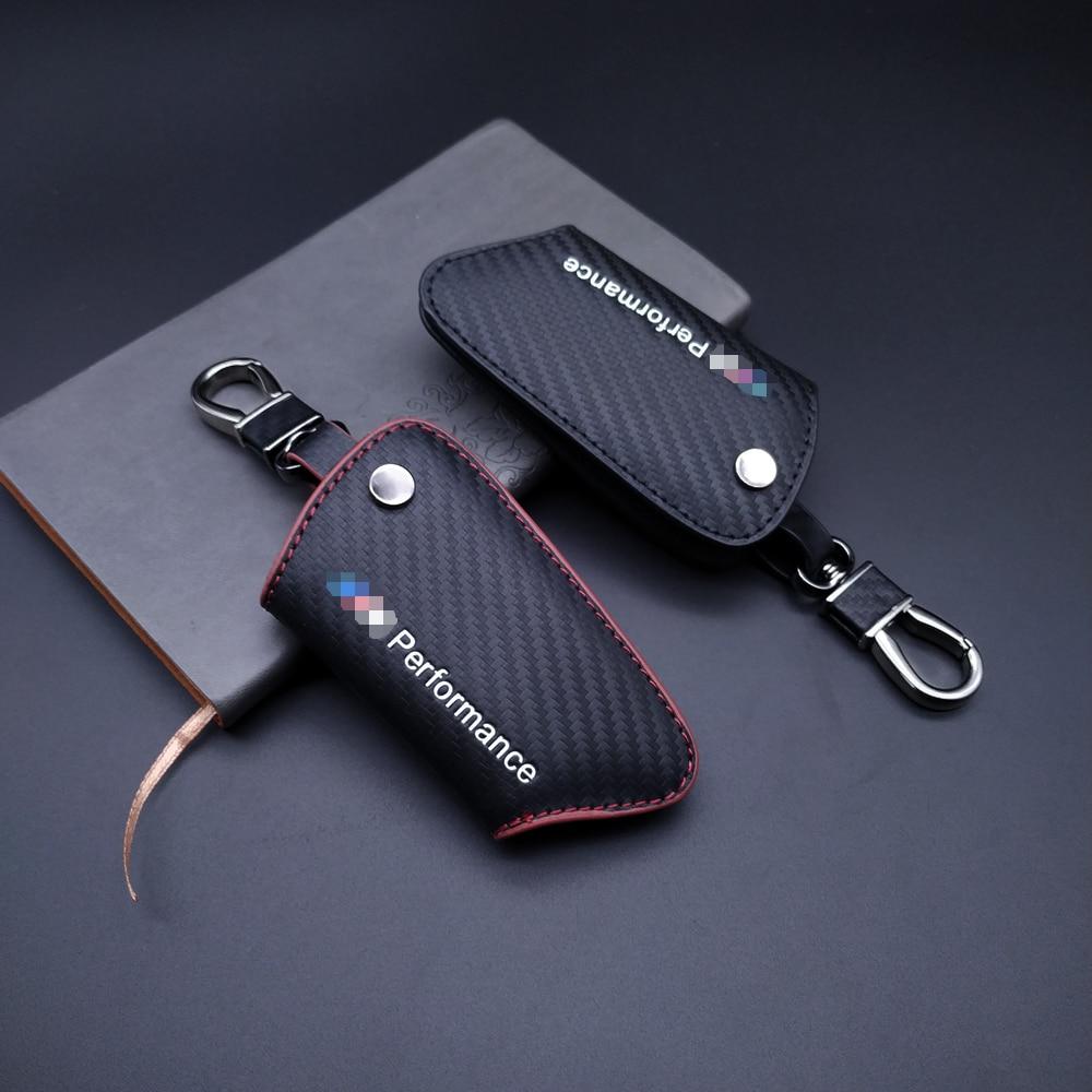 Clé de voiture housse en cuir pour bmw E90 E60 F30 F10 F15 E86 E89 E85 E91 E92 X1 X3 X5 X6 535i 325 M3 Voiture Accessoires Voiture