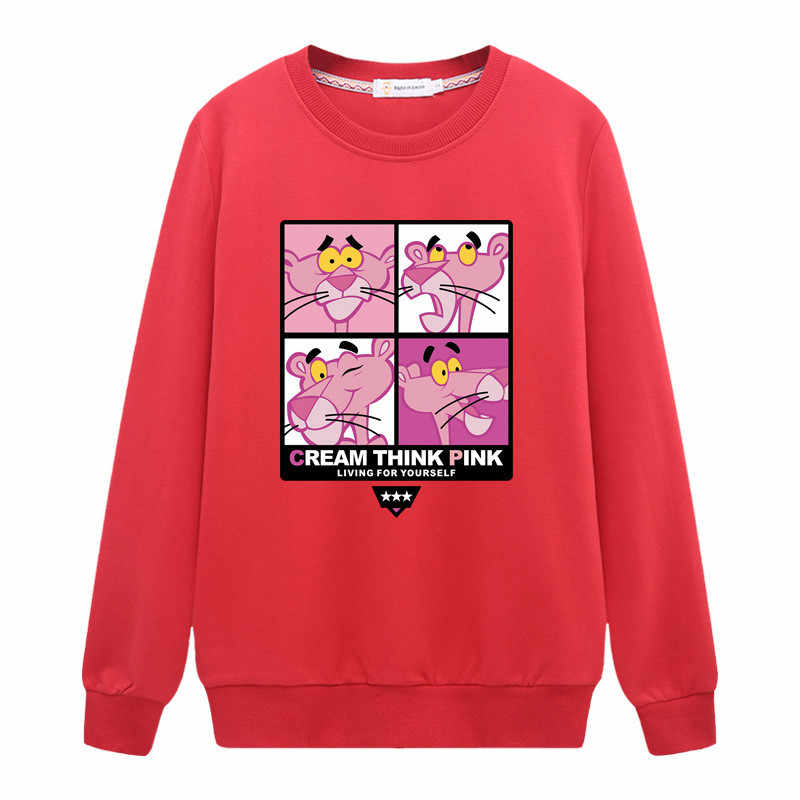 ... Hirsionsan Sweatshirt Women 2018 Funny Pink Panther Hoodies Harajuku  Long Sleeve Cute Cartoon Printed Pullovers Casual ... d0d4ed661