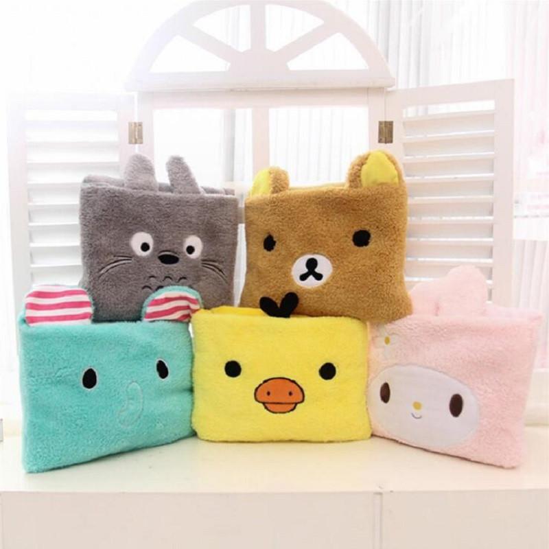 Creative Totoro Blanket 80x100cm Cartoon Plush Blanket Sofa Throw Blanket For Bed Foldable Cushion Travel Warm Blanket Cobertor