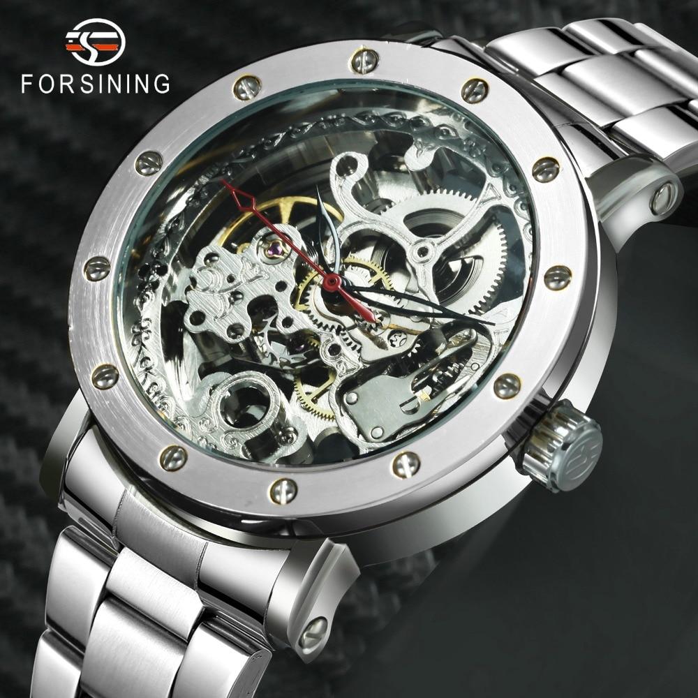 Sporting Forsining 2019 Neue Mode Minimalistischen Uhr Männer Automatische Mechanische Goldene Brücke Mesh-armband Männer Uhren Top-marke Luxus Geschenk Uhren
