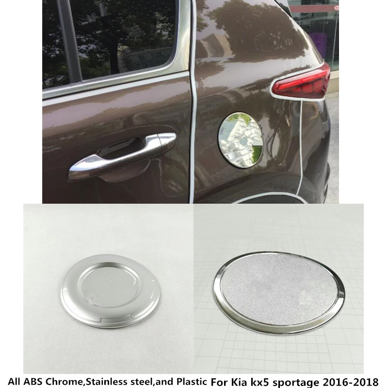 Top Sale car Styling Gas/Fuel/Oil tank Cover Cap stick ABS Chrome lamp frame trim 1pcs For Kia kx5 Sportage 2016 2017 2018