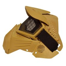 Тактическая страйкбол Pro полная маска для лица с безопасными металлическими очки в сеточку защита
