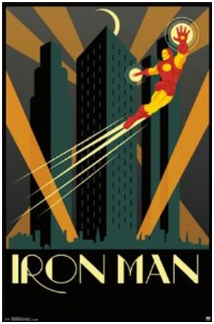 Iron Man Art Deco Cartel Póster de la Película Cartel de la Historieta Agradable Impresión Del