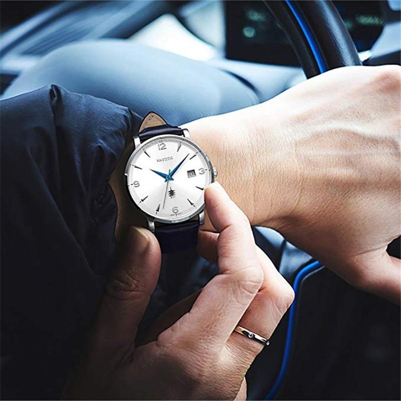 NAKSEN Classic Armbandsur Märke Luxury Quartz Män Klockor - Herrklockor - Foto 5