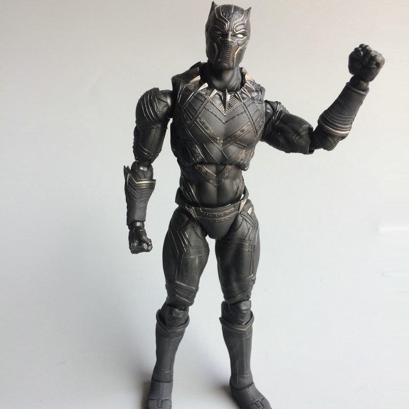 SHFiguarts Captain America Civil War Black Panther PVC Action Figure Collectible Model Toy 16cm movable shfiguarts the injustice gods among us batman pvc action figure collectible model toy