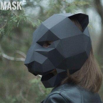 Маска ручной работы Пантера
