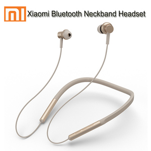 Image 1 - Original Xiaomi mi Bluetooth Neckband Earphones Wireless Bluetooth Headphone In Ear Magnetic Mic Play Dual Dynamic Headphone