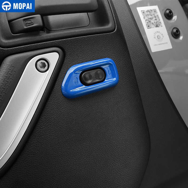 Mopai カースタイリング内装ドアハンドルロックスイッチボタン装飾ジープラングラー jk 2010 -2017 のためのアクセサリー