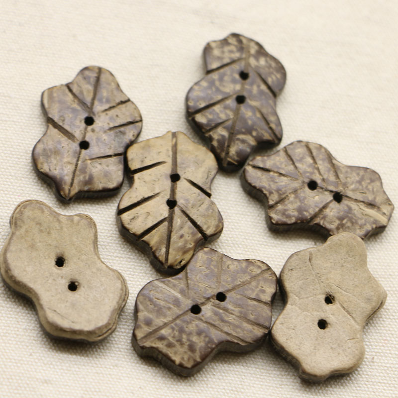 Free shipping 10pcs/lot Brown Coconut Shell <font><b>Buttons</b></font> 2 Holes Sewing <font><b>Buttons</b></font> Scrapbooking Sewing Accessories about 20-<font><b>30mm</b></font> image