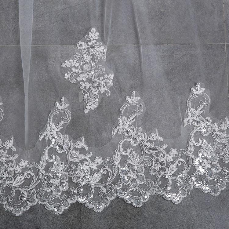 Long Bridal Veils 3-meter One Layer Lace Bride Veil With Comb Elegant Luxury Wedding Accessories High Quality (2)