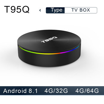 T95Q Android 8.1 TV Box 4G32 4G64G  LPDDR4 Amlogic S905X2 Quad Core 2.4G&5GHz Dual Wifi BT4.1 1000M H.265 4K Media Player tv box