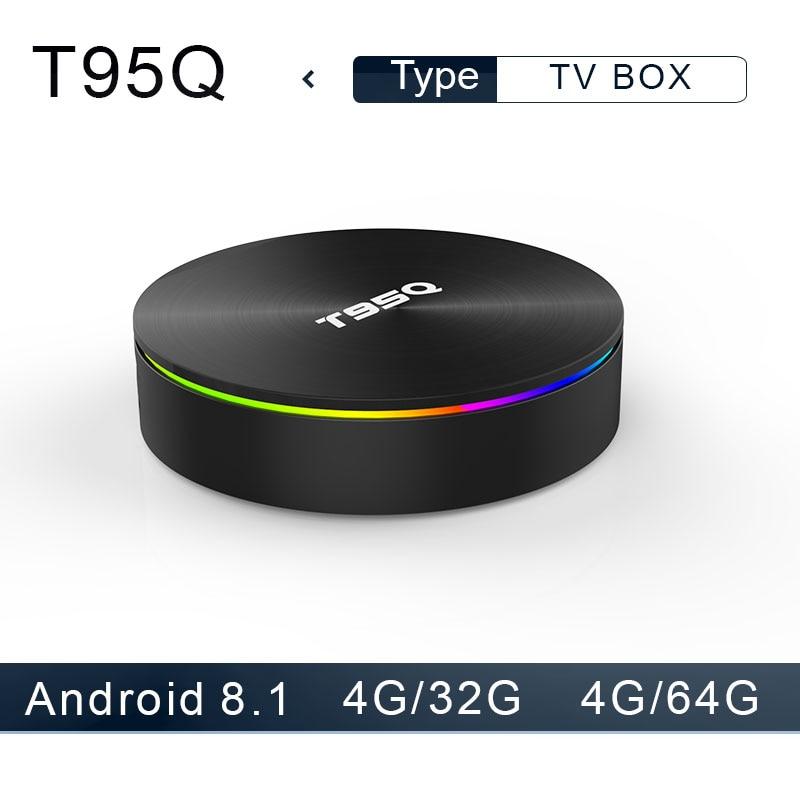 T95Q Android 8,1 TV Box 4 GB 32 GB LP DDR4 Amlogic S905X2 Quad Core 2,4G y 5 GHz dual Wifi BT4.1 1000 M H.265 4 K Media Player tv box