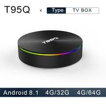 T95Q Android 8,1 tv box 4 GB 32 GB LP DDR4 Amlogic S905X2 4 ядра 2,4G и 5 ГГц Wi-Fi BT4.1 1000 м H.265 4 K медиаплеер коробка