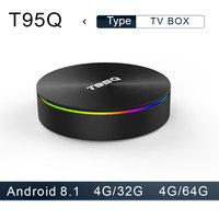 T95Q Android 8.1 TV Box 4G32 4G64G LPDDR4 Amlogic S905X2 Quad Core 2.4G&5GHz Dual Wifi BT4.1 1000M H.265 4K Media Player tv box