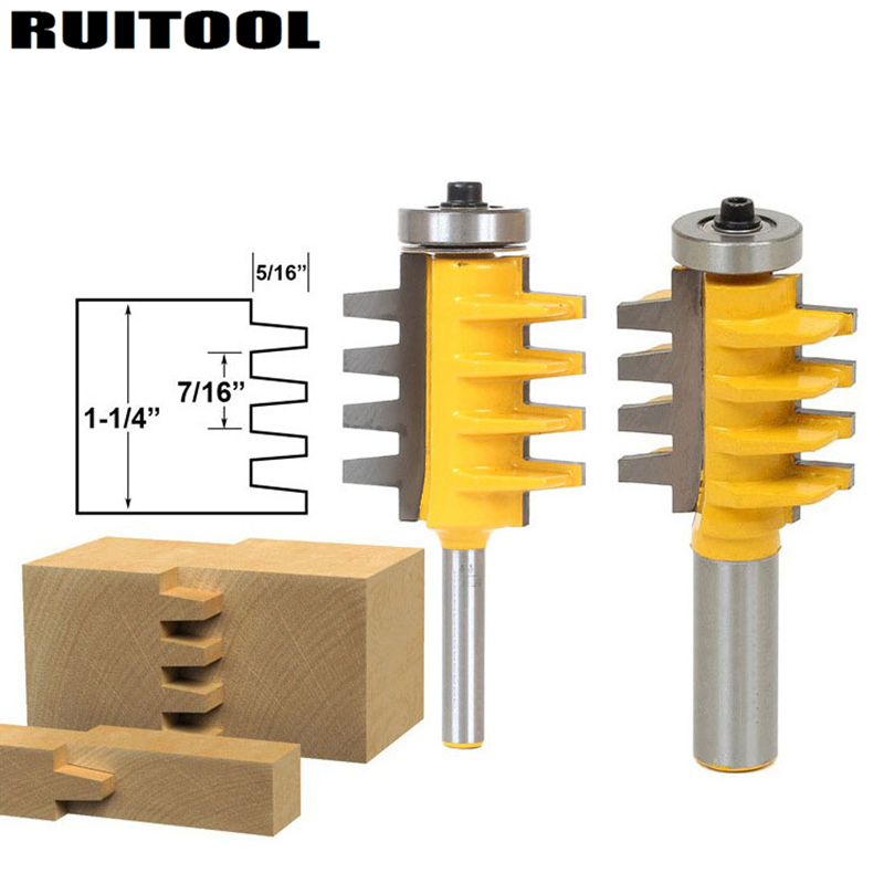 1pc Rail Finger Joint Glue Router Bit 1/2''/1/4'' Shank Cone Tenon Milling Cutters For Wood Cutter Woodworking Tools