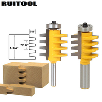 1pc Rail Finger Joint Glue Router Bit 1 2 1 4 Shank Cone Tenon Milling Cutters