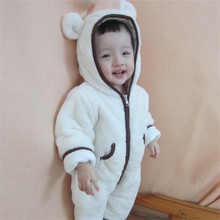 Winter Newborn Arctic Thicken Plush Baby Rompers animal modeling Long sleeve Overalls for children Baby clothing
