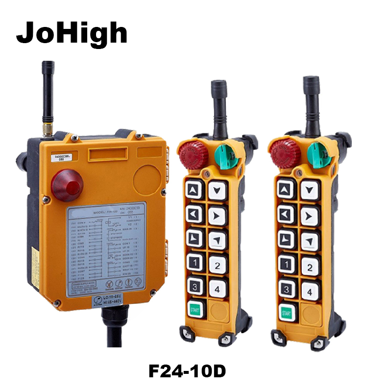 JoHigh F24 10D Double speed Crane remote controller switch 2 transmitters 1 receiver