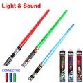 Lo nuevo de Star Wars lasersword con Luz y Sonido clásico de Star Wars Darth Vader lightsaber escalable de juguetes para los niños regalo de las armas