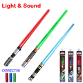 Mais novo Star Wars lasersword com Som e Luz clássico escalável sabre de luz de Darth Vader de Star Wars toy para o miúdo presente de armas