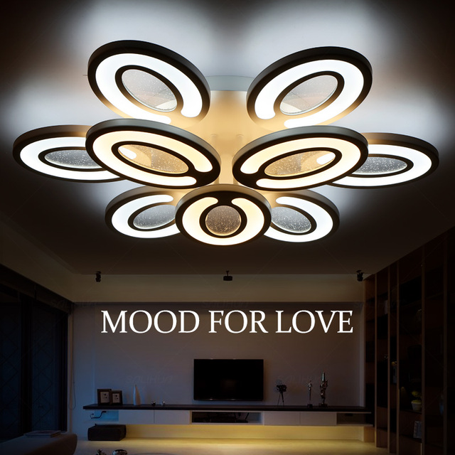 AC90260V Modern Led Ceiling Lights For Dining Room Warm White Cool Brightness Dimmable