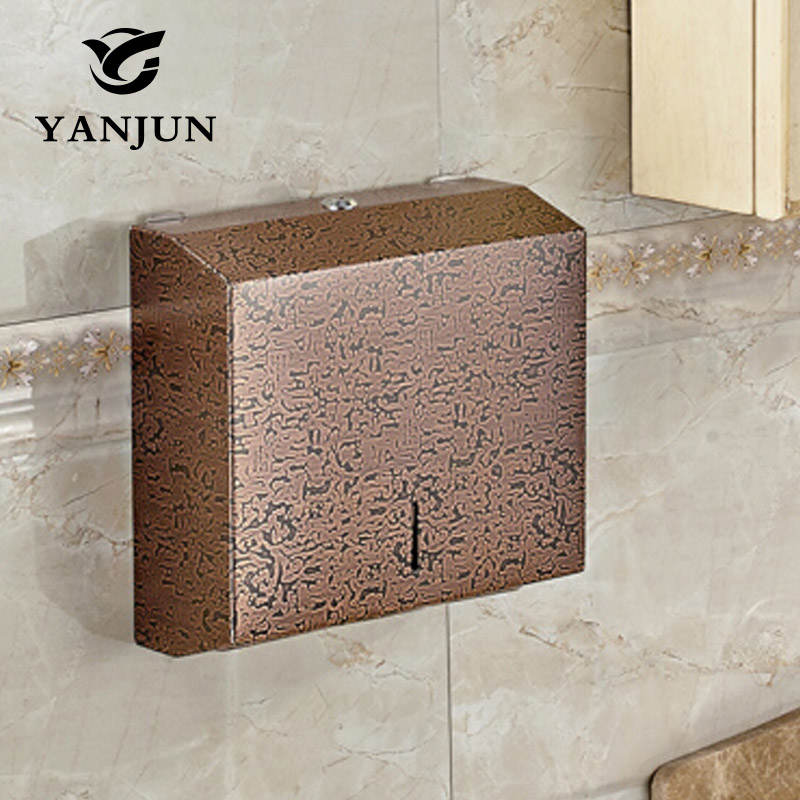 Yanjun Wall Mount Stainless Steel Single Fold Multi Fold  C-Fold Tissue D Paper Towel Dispenser Polish Finished  YJ-8673H novelty x 3322 wall mounted sensor paper towel dispenser batteries or electrical automatic tissue holder box in multi color
